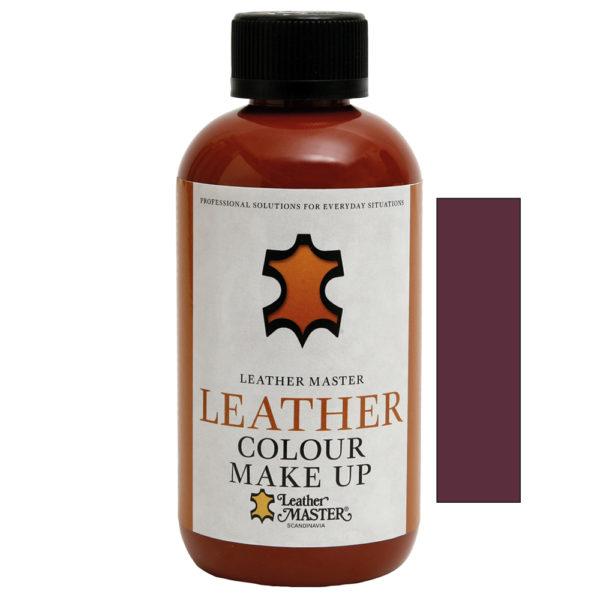 Genomskinlig flaska med svart kork innehållande Leather Colour Make Up Ebony