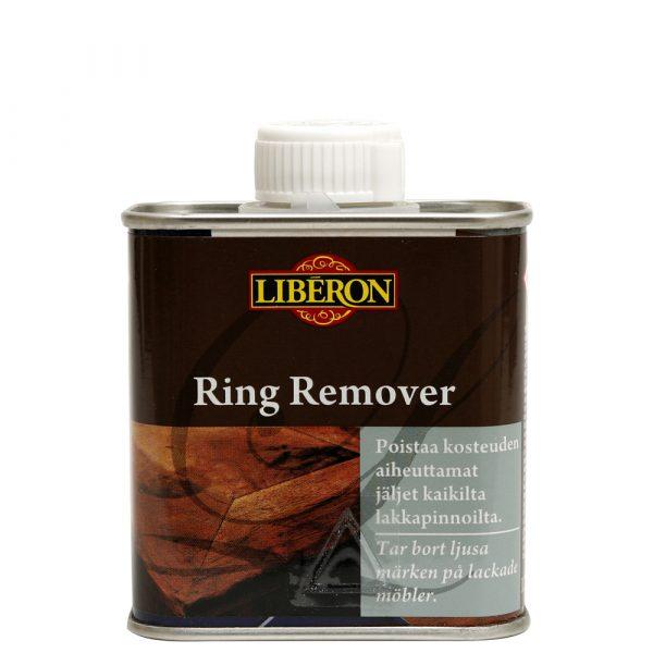 Brun behållare med vitt lock som innehåller Ring Remover