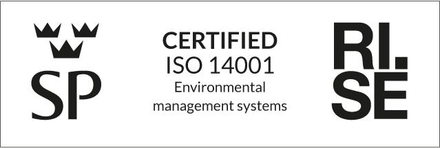 ISO 14001 certifikatsstämpel