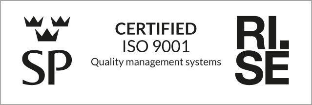 Iso 9001 certifikatsstämpel